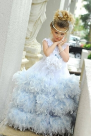 """""""Clear Blue Skies""""...A Soft And Feathery Gown"""