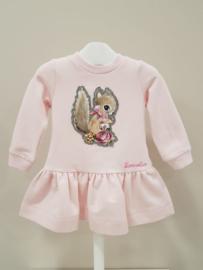 Monnalisa, roze jurkje met eekhoorn