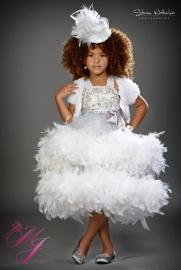 Extreme Elegance Girls Stunning Feather Dress