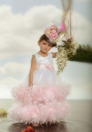 """""""Crystal Blush""""...A Double Tiered Satin & Crystal Organza Gown"""