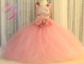 Dusty Rose Cinderella Flower Girl Dress