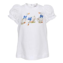 Monnalisa, shirt met gansjes