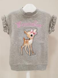 Monnalisa, grijze tuniek/jurkje met Bambi