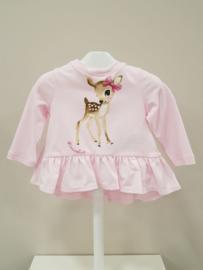 Monnalisa, roze tuniek met Bambi