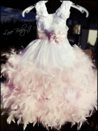 """""""Blush""""... A Double Tiered Satin & Crystal organza Gown"""