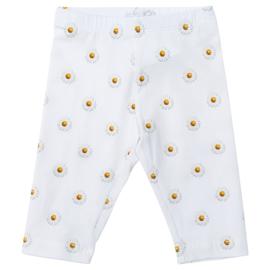 Monnalisa, witte legging met margrietjes