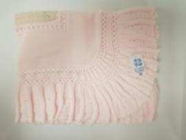 Vistiendo Bebes, roze deken 520