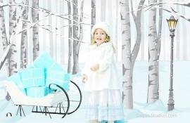 Schattige Witte Fleece Jas met Faux Fur Trim & Matching Hat