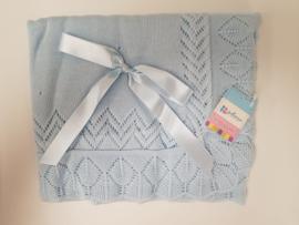 Vistiendo Bebes, blauwe deken 506