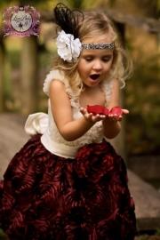"""Afternoon Tea With Love""... An Extravagant Satin & Chiffon Dress"