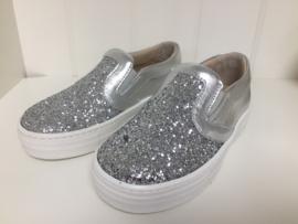 Florens, zilveren glitter bootschoenen