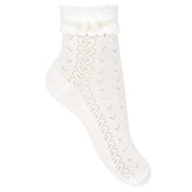 Condor, witte sokjes met strikje