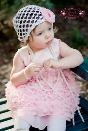 Mutsje Shabby Chic Ruffled Pink Infant Dress