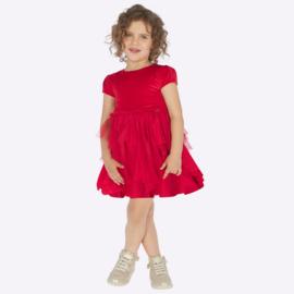 Mayoral, rode jurk met tulle