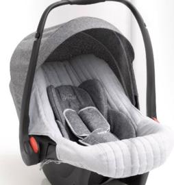 First, E-lite autostoel, grijs