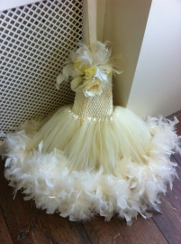 """Here Comes The Bride"".. A Double layer Feather Ivory Tutu"