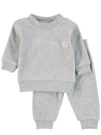 Feetje, grijs melee wafel pyjama