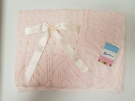 Vistiendo Bebes, roze deken 515