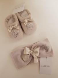 La Perla, beige haarband met sokjes