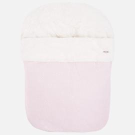 Mayoral, roze poppelin voetenzak voor maxi-cosi
