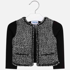 Mayoral, zwart tweed jasje