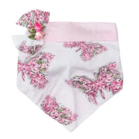 Monnalisa, witte bandana met roosjes