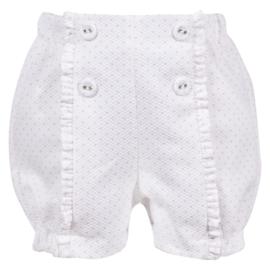 Patachou, witte short met roze polkadots