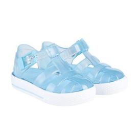 Igor, transparant blauw waterschoentjes