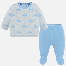 Mayoral, blauw/grijs 2-delig babypakje