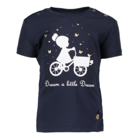 Le Chic, donkerblauwe shirt Little Dream
