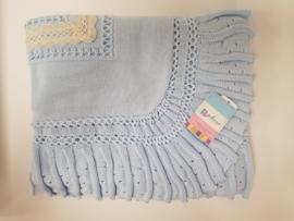 Vistiendo Bebes, blauwe deken 520