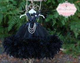 Little Miss Audrey Hepburn Feather Dress