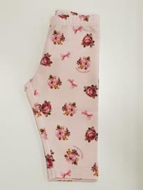 Monnalisa, roze legging met roosjes