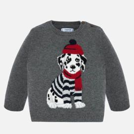 Mayoral, grijze trui met hond