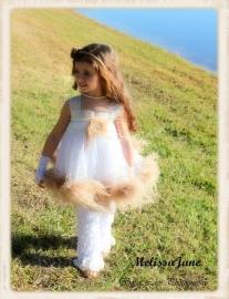 Angel Ostrich Tutu Dress
