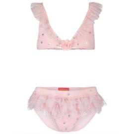 Kate Mack, roze bikini met kroontjes