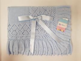 Vistiendo Bebes, licht blauwe deken 519