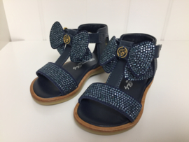 Blumarine, blauwe sandalen met strik