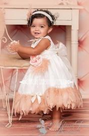 Little Girls Blushing Blush Feather Dress