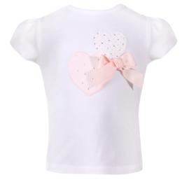 Patachou, wit shirt met roze hartjes