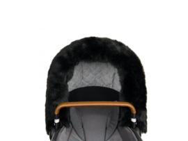 Bjällra, black faux fur bontrand