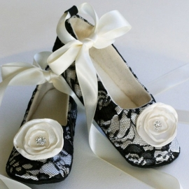 Flower Girl Couture Ballet Slipper