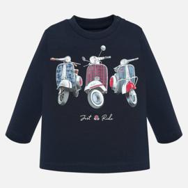 Mayoral, donkerblauwe longsleeve met scooters