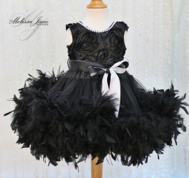Angel Dream Dress with a Hint of Ostrich Feathers
