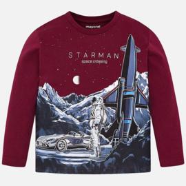 Mayoral, bordeaux rode longsleeve Starman