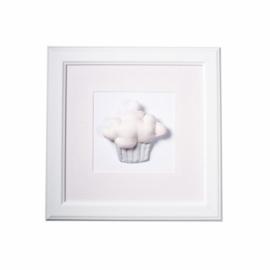Caramella, roze schilderij met cupcake