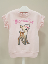 Monnalisa, roze tuniek/jurkje met Bambi