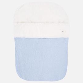 Mayoral, blauwe poppelin voetenzak voor maxi-cosi