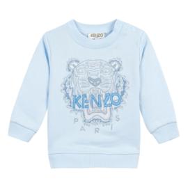 Kenzo, licht blauw sweater met tijger