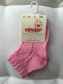 Condor, opengewerkte roze sokjes